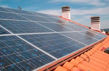 Panel solar casa